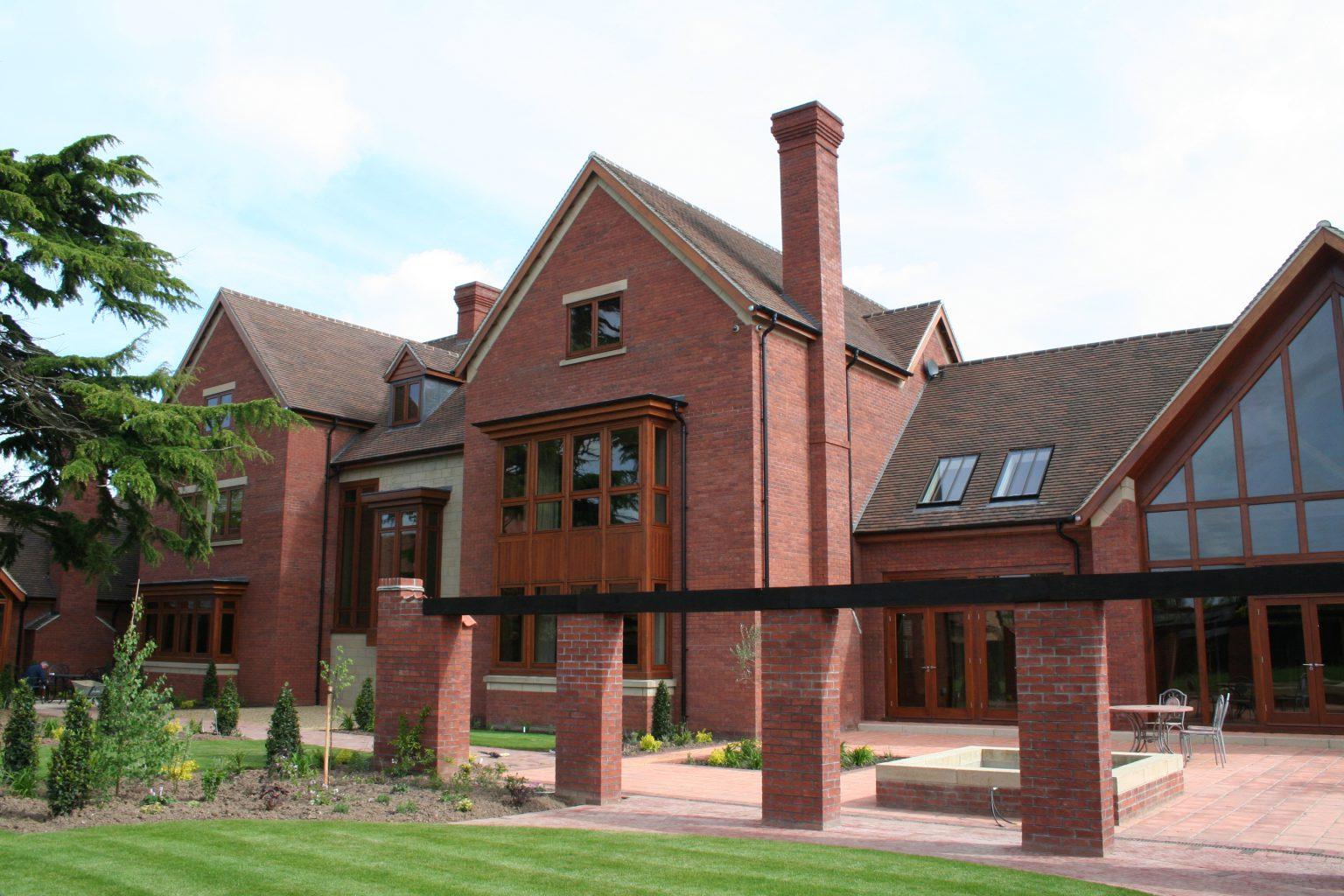 Derbyshire residence brickwork