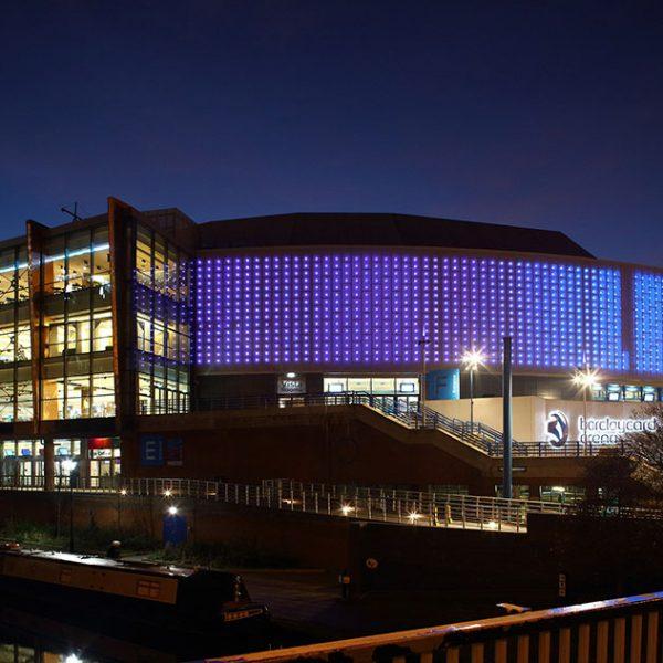 Barclaycard Arena Birmingham metal panels