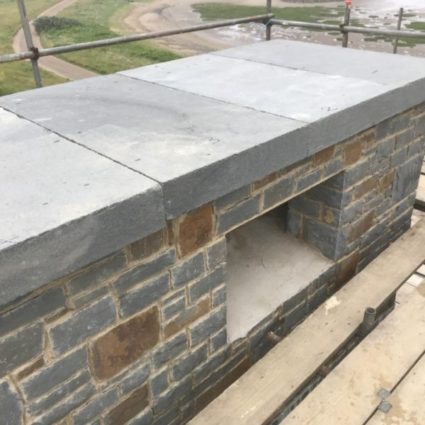 blue pennant capping chimney slabs