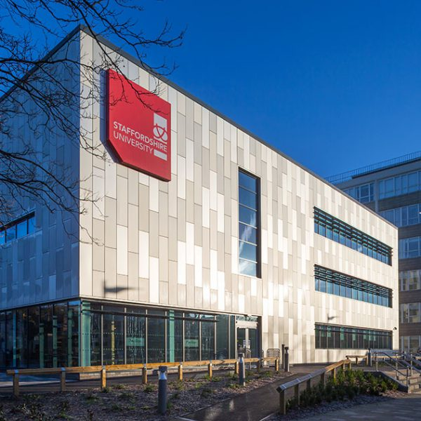 Staffordshire University aluminium panels