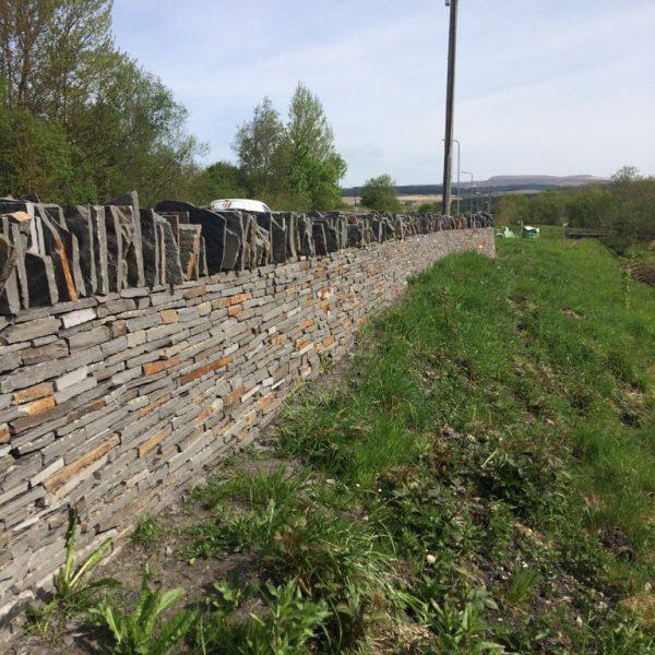blue pennant drystone wall