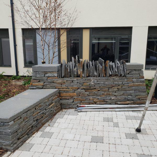 blue pennant stone wall