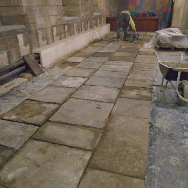 Woolers Church reclaimed stone paving